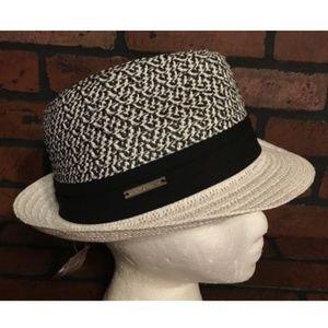 VINCE CAMUTO Straw Fedora Hat